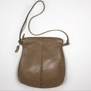 Ronay LeSac Vintage 1950 Tan Leather Crossbody Bag
